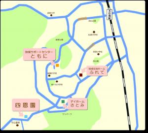 しおんえん関連施設地図